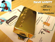 G.M. 59'er Alnico 5 Gold Humbucker Bridge (52mm) (4-wire)