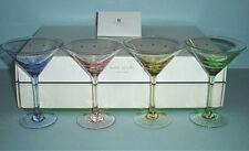 Kate Spade Lenox LARABEE DOT POP Mini Martini Glasses SET/4 Crystal 4 Colors New