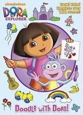 Doodle With Dora! Over 100 scenes, Drawing/Coloring Book, 50# Stock Paper Pages