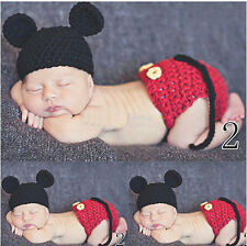 Baby Girls Boy Newborn Knit Crochet Clothes Photo Prop Outfits 0-6M k04