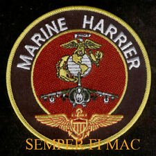 AV-8 HARRIER VMA PATCH US MARINES PILOT CREW MCAS 3D MAW WING MAG VETERAN GIFT