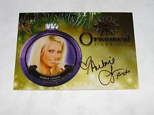 2015 Benchwarmer AUBRIE LEMON Holiday #14 Gold Ornament Autograph SP PLAYBOY Hot