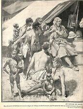 CONGO PYGMEES PYGMY WEDDING MAJOR POWEL ARTICLE DE PRESSE PAR LEBLANC 1910