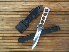 "9"" Scuba Diving Stainless Steel Fixed Blade Knife Survival Hunting Serrated"