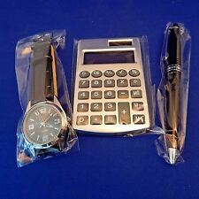 MEN'S WATCH PEN CALCULATOR COMBO SET NIP