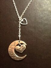 Special sister. I love you to the moon and back necklace with heart