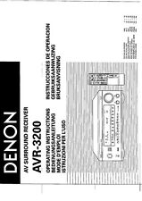 Denon AVR-3200 AV Receiver Owners Manual