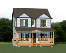 24x24 House -- 3 Bedroom -- 1.5 Bath  1,106 sq ft -- PDF Floor Plan -- Model 5E