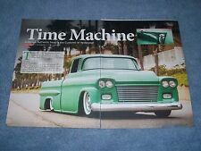 "1959 Chevy Apache Pickup Truck Mild Custom Article ""Time Macine"""