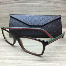 Gucci GG 1071 GG1071 Eyeglasses Frames Brown Green Red 5D6 Authentic 54mm