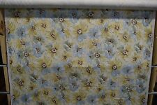 By The Yard 100% COTTON FABRIC - ROBERT ALLEN LIGHT FLORAL - BLUE/YELLOW