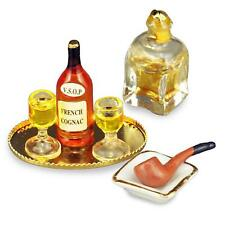 DOLLHOUSE Evening Cognac Set Reutter 16108 Miniature Spirits Drink 1-12