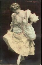 Pretty Woman Actress Opera Rouvier Tinted Real Photo c1910 Postcard
