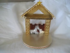 Waterford Holiday Heirlooms Christmas Creche Stable Nativity Manger Display