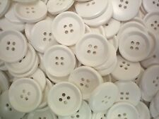 10 x 25mm Large Light Cream 4 Hole Chunky Buttons Sewing Knitting Craft (AA1) X