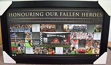 COLLINGWOOD AFL ANZAC DAY PRINT LIMITED EDITION POSTER FRAMED - SWAN PENDLEBURY