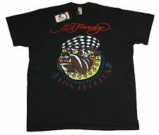 Bnwt Authentic Mens Ed Hardy Bulldog T Shirt XXXXL 4XL New Black Big Tall