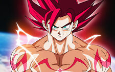 Poster A3 Dragon Ball Super Goku Super Saiyan Rose 01