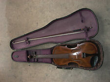 HOPF Baroque 4/4 Violin Modernized Factory early copy 1850's, case, stamped bow