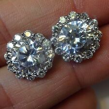 Fine! New 14K White Gold 1CTW Diamond G H  SI1 Earring Jackets