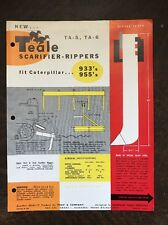 Vintage Teale Scarifier Rippers Caterpillar Crawlers Brochure Spec Sheet Ad 50s
