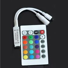 For RGB LED Strip Light DC5-24V 24 Key Wireless IR Remote Mini Controller Dimmer