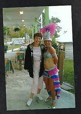 Vintage Photograph Woman w/ Another Woman Wearing Brazil Carnival Costume