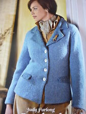 Knitting  Pattern - Lady's Lovely Trimmed Smart Fitted Jacket In Aran- 32-46in