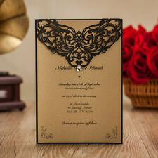 Black Birthday Wedding Engagement Party Graduation Invitation Elegant  1 Sample