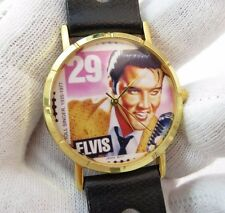 ELVIS, Stamp Watch, 60's Rally Band Compression Clasp, MENS WATCH,448,L@@K