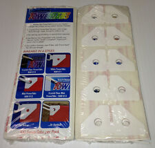 POWER TABS ADHESIVE CORNER TABS 3.25'' WHITE -100 PER PACK- NO TOOLS REQUIRED!