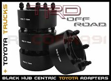 """4 PC 2007-2016 TOYOTA TUNDRA 3"""" THICK BLACK HUB CENTRIC WHEEL SPACERS ADAPTERS"""
