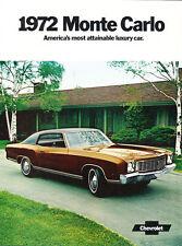 1972 Chevrolet Monte Carlo 12-page Original Car Sales Brochure Catalog