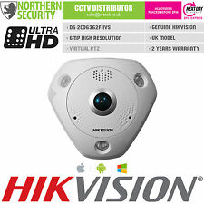 HIKVISION PTZ FISHEYE Camera 6MP 360° PANORAMIC 1.27MM LENS POE IP66 MIC SPEAKER
