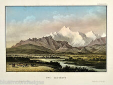 Der Caukasus Kaukasus Кавказ Kawkas Kowkas Qafqaz ORIGINAL Stahlstich ca 1860