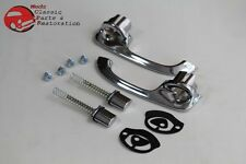 65-68 Chevy Impala Front Chrome Outer Push Button Door Handle Set Pair 4 Door
