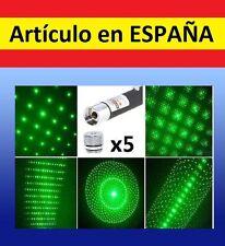 5x CABEZALES Puntero Laser VERDE militar GRAN ALCANCE laser pointer 532nm 1mW