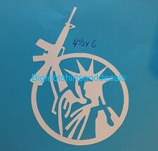 AR15 Statue Of Liberty Decal Rifle Molon Labe Car Truck Vinyl Window Stickers A