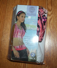 NWT The Balance Collection LOT of 2 White Pink Patterned Sports Bra Sz S 32C/34B