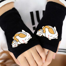 Anime Natsume Yuujinchou Cosplay Cotton Knitted Gloves Fingerless Mittens Gift