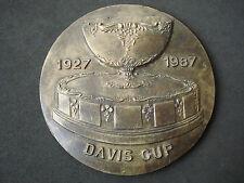 Davis Cup, 1927 - 1987, rare, massive plaque; tennis, medal