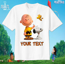 Charlie Brown and Snoopy Custom tshirt Personalize Birthday gift, Peanuts
