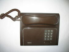 Northern Telecom DIPLOMAT Telephone Touchtone Push Button BROWN Vtg Mid Century