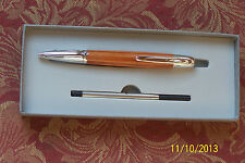 Waterford Pallas Capless Rollerball/ BP Convertible Pen Platinum & Exotic Wood!