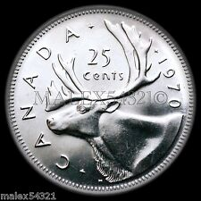 A RARE 1970 25 CENTS *CHOICE BU* UNCIRCULATED FROM ROLL