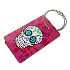 Sugar Skull Suitcase Bag ID Luggage Tag Set