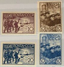 RUSSIA SOWJETUNION 1938 614-17 643-46 Rescue Papanin´s North Pole Expedition MNH