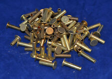 Tubular Rivets - Solid Brass - 8/16 Post - Set of 100  (B58)