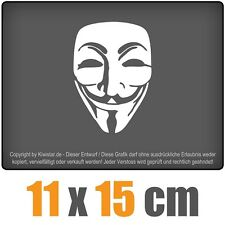 Anonymous Maske csf0586 11 x 15 cm JDM Decal Sticker Aufkleber Racing Die Cut