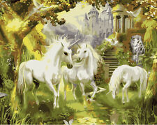 New DIY Acrylic Paint By Number 16*20 kit Painting PBN Horse Landscape